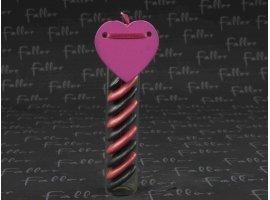 Dragées Mariage - Bracelet coeur fuchsia et noir de mariage