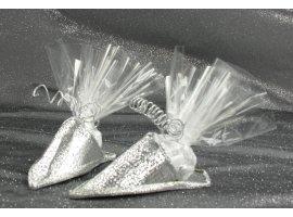 Oriental - Babouche dragees couleur argent
