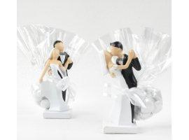 Dragées Mariage - Mariés en noir et blanc
