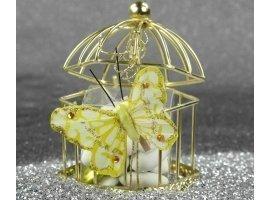 Oriental - Cage à oiseau hexagonale & dragées amandes