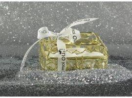 Oriental - Coffret en fer forgé doré avec fleurs