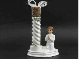 Dragées Communion - Eprouvette en verre (communion garcon)