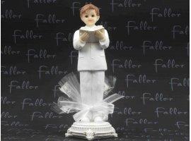 Dragées Communion - Grand communiant avec bible dans ses mains et dragées