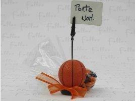 Dragées Baptême - Ballon de basket porte photo avec dragees