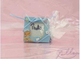 Dragées Baptême - Dragees garcon avec petit cadre photo bleu