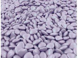 Dragées en Vrac - Dragees mini coeur parme (500 gr.)