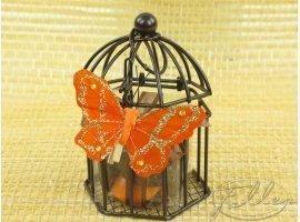 Dragées Baptême - Dragées dans cage à oiseau marron