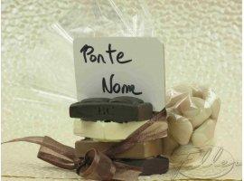 Dragées Mariage - Tablette de chocolat porte-carte avec dragées