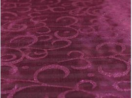 Chemins de Table - Rouleaux organza arabesque fuchsia