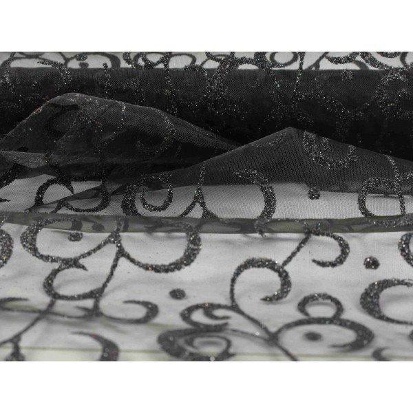 Chemin de table arabesques noirs for Chemin de table personnalise