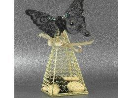 Oriental - Pyramide dorée, papillon noir et dragées
