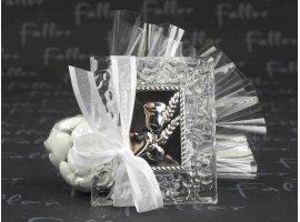 Dragées Communion - Petit cadre acrylique  communion avec pochon dragees