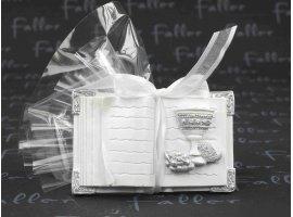 Dragées Communion - Petite livre ouverte avec pochon de dragees