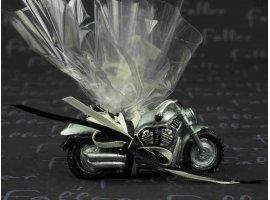 Dragées Mariage - Petite moto en resine avec dragees mariage