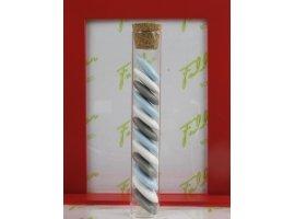 Dragées Baptême - Eprouvette et dragees en bleu gris et blanc