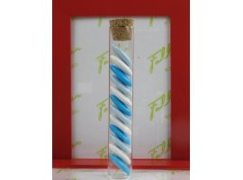 Dragées Baptême - Dragees turquoise-blanc-bleu et eprouvette