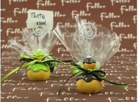 Dragées Baptême - Religieuse anis et marron (porte-photo)
