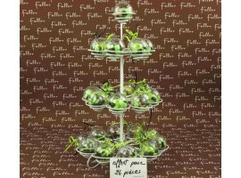 Dragées Baptême - Donut porte-clé marron/anis avec dragées de baptême
