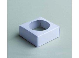 Dragées Communion - Socle blanc pour boule plexi 5cm