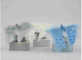 Dragées Baptême - Aile d ange garcon avec dragée (thème gris)