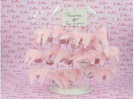 Dragées Baptême - Boule a dragees avec aile d ange rose