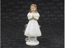 Dragées Communion - Grande figurine communiante  avec dragees coeur