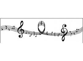 Chemins de Table - Chemin de table gamme de  musique