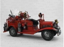 Dragées Baptême - Grand camion de pompier avec dragées de baptême