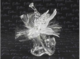 Dragées Communion - Ange en plexi blanc avec  dragées