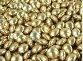 Dragées en Vrac - Dragées mini confettis vieil  or 200 gr