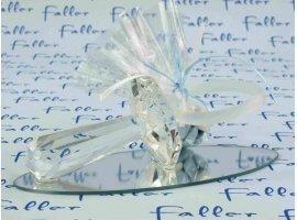 Dragées Baptême - Tétine en verre déposée sur un socle miroir pour garçon