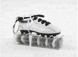 Dragées Baptême - Chaussure de foot porte-clé avec dragées baptême