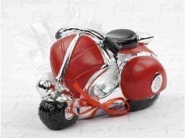 Dragées Mariage - Tirelire vespa rouge avec dragées de mariage