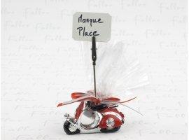 Dragées Mariage - Porte photo vespa rouge avec dragées pour mariage