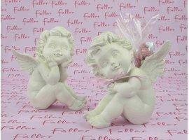 Dragées Baptême - Grand ange avec dragées baptême fille