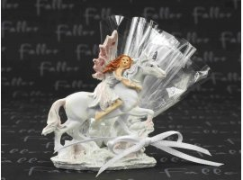 Dragées Communion - Fée sur licorne avec dragées pour communion