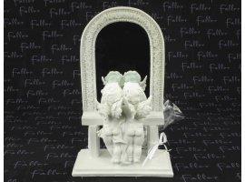 Dragées Mariage - Deux anges face miroir avec dragées de mariage