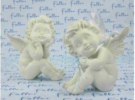 Dragées Baptême - Grand ange avec dragées baptême pour garçon