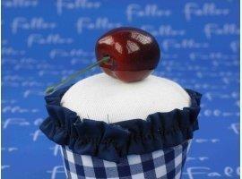 Dragées Baptême - Boite à cupcake bleu avec dragées