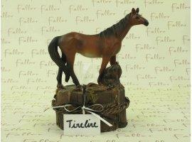 Dragées Baptême - Grande tirelire cheval avec dragées