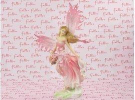 Dragées Baptême - Grande elfe avec magnifique  robe à fleur